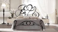 Gabriel modern baroque iron bed by Cantori Iron Furniture, Bedroom Furniture, Bedroom Decor, Wrought Iron Beds, Art Nouveau Furniture, Modern Baroque, Modern Spaces, Home Interior Design, Home Furnishings