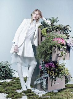 'The Whites Of Spring' – W magazine [March 2013] | photography: Craig McDean, set design: Piers Hanmer, styling: Edward Enninful