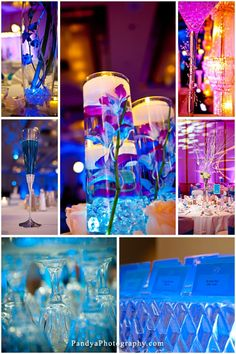 Indian Wedding Ice themed Blue #Luxury #Wedding