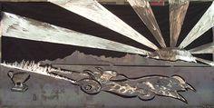 """Banzai"" 4' X 8' 16 gauge steel sculpture by Dan Statler #art #kustom #vulturekulture"