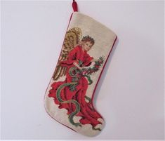 Log in to your Etsy account. Christmas Angels, Christmas Stockings, Needlepoint Stockings, Handmade Items, Small Shops, Dog Food, Pretty, Vintage, Recipes