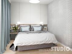 Projekt Mieszkanie Przy Marymonckiej - MIKOŁAJSKAstudio Build A Closet, Guest Room, Master Bedroom, New Homes, Interior Design, Inspiration, Furniture, Home Decor, Whistler