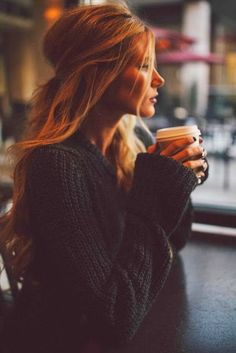 Cozy crochet black sweater for winter fashion....why can't my life be like the people in pinterest photos???