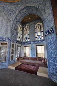 Cobalt blue Iznik tiles - Topkapi Palace