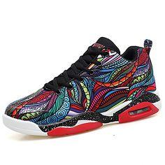 eab69b72f57aa0 [$32.89] Per uomo Tessuto Autunno / Inverno Comoda scarpe da ginnastica  Basket Stivali metà polpaccio Nero / Rosso