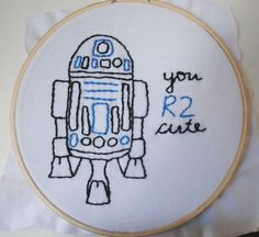 R2D2 embroidery