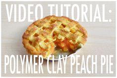 Miniature peach pie video tutorial