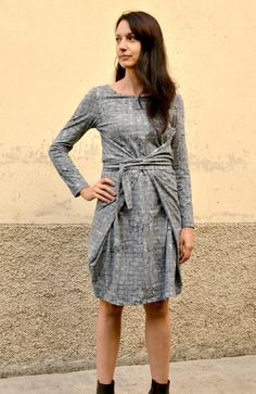 sewing: observer knit kielo wrap dress