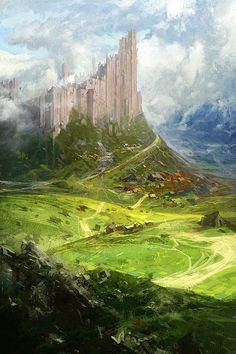 the Castle by *Hamsterfly.  Ruins looming over the little village...just waiting for a new tyrant to move in--or maybe a dragon!