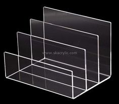 Custom 3 grids clear acrylic files holders BH-2237 Brochure Stand, Brochure Holders, Book Display Stand, Newspaper Stand, Business Card Displays, Magazine Holders, Color Shapes, Laser Engraving, Clear Acrylic