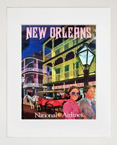 New Orleans Travel Poster Wall Art Print Home Decor (ZT608)