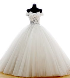 Find More Wedding Dresses Information about Sexy Dubai Luxury Ball Gown White Lace and Crystal Wedding Dresses 2016 with Off Shoulder Long Puffy Floral Bridal Gowns YW66,High Quality dress tassels,China dress skeleton Suppliers, Cheap dress lion from LaceBridal on Aliexpress.com