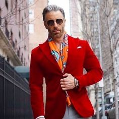 You're looking at the hard proof that a red velvet blazer and grey dress pants look amazing if you wear them together in an elegant outfit for a modern man. Mens Red Velvet Blazer, Mens Burgundy Blazer, Burgundy Shoes, Burgundy Dress, Turtleneck And Blazer, Blazers For Men Casual, Grey Dress Pants, Dress Shirt, Man Dressing Style