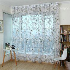 New Arrival High Quality Vivid Flower Print Custom Sheer Curtain on sale, Buy Retail Price Sheer at Beddinginn.com