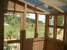 Homesteading, Pergola, Shed, Outdoor Structures, Windows, Conservatory Ideas, Garden, House, Porches