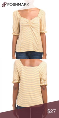 072dc54a61cb Kim   Cami striped mustard yellow babydoll top New! Never worn and just  bought recently
