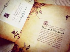 Fairytale wedding invitations Romantic by DesignedWithAmore