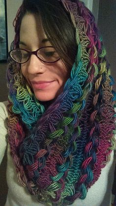 hair pin lace tops   FinishedObject Braided Hairpin Lace Infinity Scarf--inspiration from ...