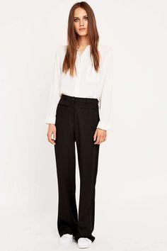 Urban Outfitters - Pantalon noir évasé
