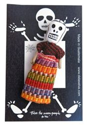 Skulls are symbols of daily life of Guatemalans. The history says that when the Mayan people have worries, they tell them to their skull worry dolls before placing under their pillows at night