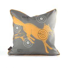 Fox Bullseye in Sunshine Pillow
