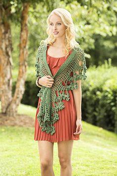 Flowering Herb Scarf Free Crochet