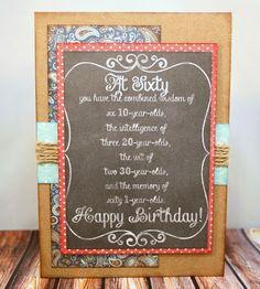 Happy 60th Birthday Day Card. . .