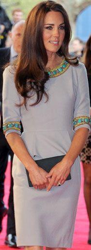 Kate Middleton in peplum dress by Matthew Williamson