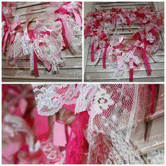 DIY Valentine's day ribbon wreath