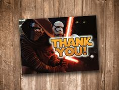 Star Wars: The Force Awakens Kylo Ren Thank You Card *Instant Digital Download* by appacadappa on Etsy