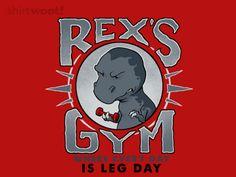 T-Rex gym t-shirt.