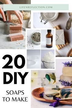 Want to start soap making? Start with these 20 DIY soap recipes!
