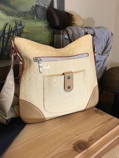 Arcadia Italy Large Shiny Patent Leather Pale Yellow Cross body Tote Handbag    eBay