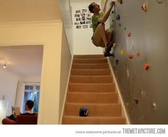 For those who don't like stairs…I am sooo doing this. My insurance company may drop me, but it looks like fun.