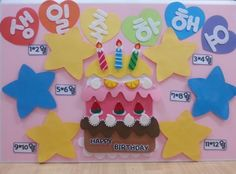 Diy And Crafts, Crafts For Kids, Birthday Charts, School Murals, Board For Kids, Birthday Board, Kindergarten Activities, Pre School, Classroom Decor