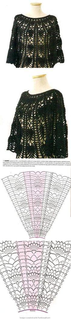 Crochet poncho --- crochet-plaisir.o...