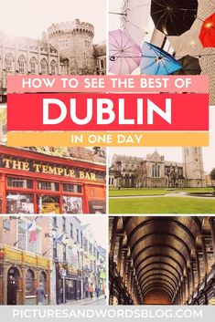 Looking for the best things to do in Dublin, Ireland? Follow this one day in Dublin itinerary and see all the highlights of the city! This travel guide is filled with tips on all the best things to do and see, where to eat in Dublin, where to drink, and many more travel tips! dublinireland #irelandtravel #travelguide