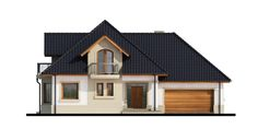 Elewacja DA Dandys 1 G2 CE Home Fashion, House Plans, Shed, Villa, 1, Outdoor Structures, Cabin, Mansions, Architecture