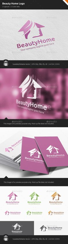 Beauty Home Woman House	 Logo Design Template Vector #logotype Download it here: http://graphicriver.net/item/beauty-home-woman-house-logo/11443048?s_rank=974?ref=nesto