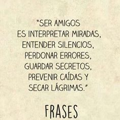 Image about amigos in frases by ARWV on We Heart It Find Image, We Heart It, Tattoo Quotes, How To Get, Math Equations, Words, Frases, The World, Amigos