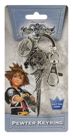 Disney Kingdom Hearts Sword Pewter Key Ring. Organizes your keys. Highly detailed. Attach to your bag or backpack.