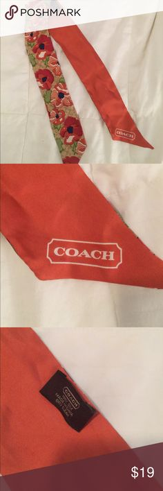 Coach silk scarf Love this. Silk coach signature scarf. Coach Accessories Scarves & Wraps