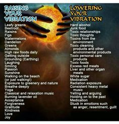 How to raise and lower your vibration
