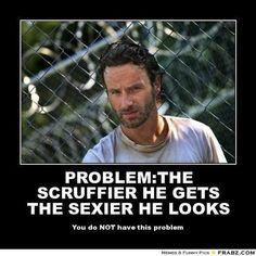 Scruffy Rick crimes, British accent Andrew Lincoln
