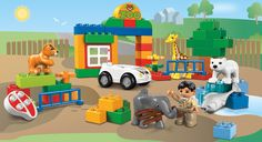 This was my 2 year olds first duplo set.  6136 My First Zoo  #LegoDuploParty
