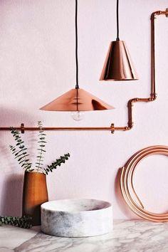 Beautiful copper kitchen accessories..