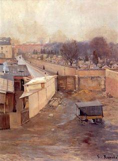 The Cemetery, Montmartre - Santiago Rusinol