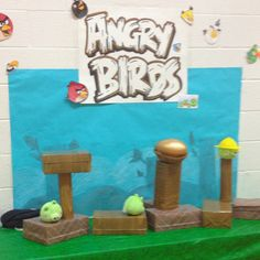 Angry bird game for school carnival Made by Ginny Rounds & moi