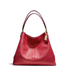 COACH Madison Phoebe Leather Shoulder Bag. LOVE the Phoebe! It comes in three sizes - large, standard and small! MANY  COLORS!!