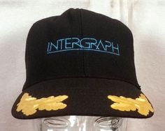 vtg 80s Intergraph Trucker Hat Cap Snapback Computer Graphics Cards Keyboards